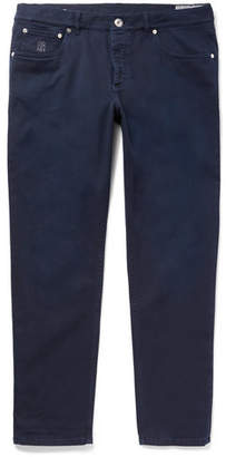 Brunello Cucinelli Slim-Fit Stretch-Denim Jeans - Navy