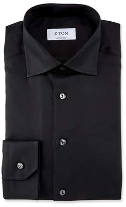 Eton Men's Contemporary Fit Convertible Twill Dress Shirt