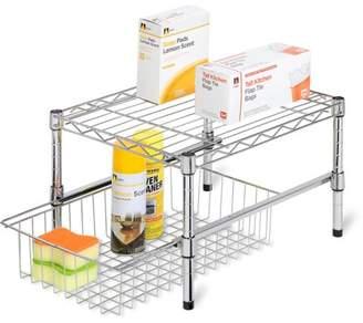 Honey-Can-Do Adjustable Shelf with Under Cabinet Organizer, Chrome