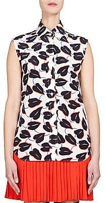 Givenchy Women's Crepe De Chine Sleeveless Top
