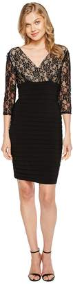 Adrianna Papell L/S Lace Band Dress Women's Dress