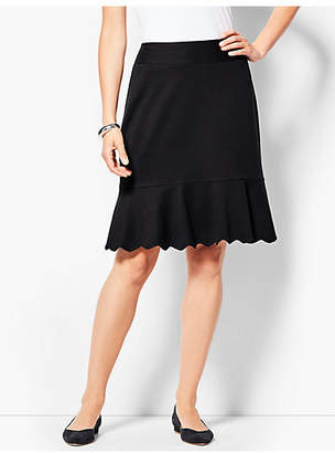 Talbots Ponte Scallop Hem Skirt