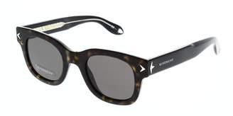 Givenchy Sunglasses 7037/S 09WZ Havana Black Crystal/NR brown gray lens