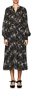 Co Women's Floral Wool Gauze Shirtdress-Black