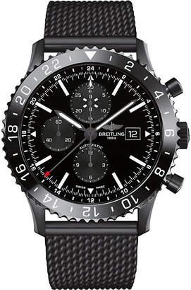 Breitling M2431013/BF02/267S/M20SS.1 Chronoliner black steel watch