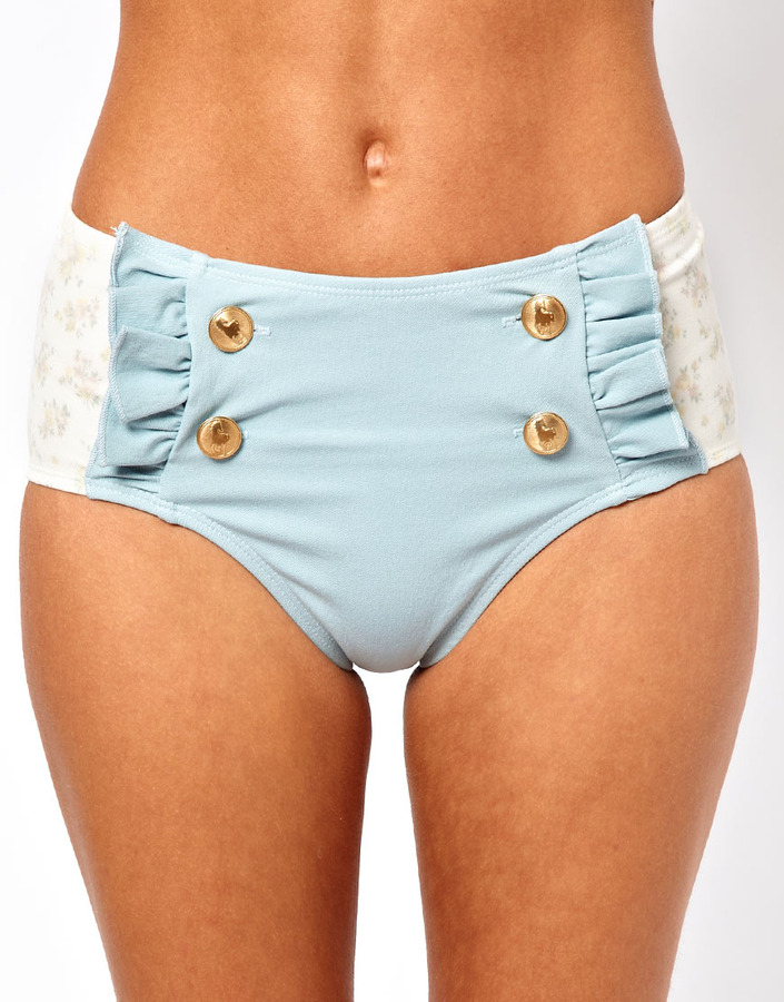 Wildfox Couture White Daisy and Denim Bottom
