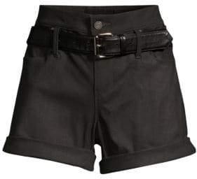 RtA Waxed Leather Shorts
