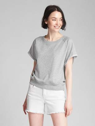 Gap Short Sleeve Pullover Sweatshirt in French Terry