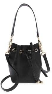 TDE TDE Women's Leather Mini Bucket Bag - Black