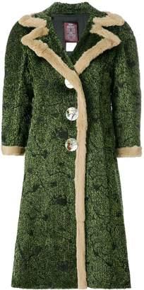 John Galliano Pre-Owned abstract pattern midi coat