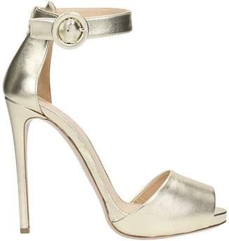 Lerre Platinum Calf Leather Sandals