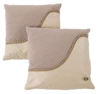 Fendi Pair of Leather & Wool Throw Pillows