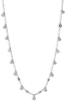 Nordstrom Shaky Crystal Circle & Bezel Necklace