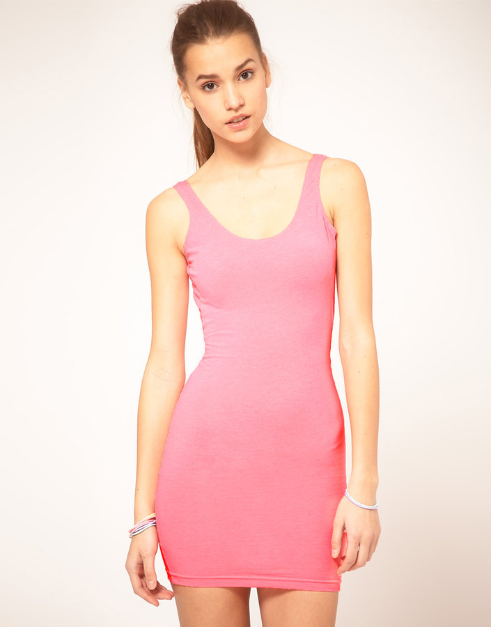 American Apparel Flouro Mini Tank Dress