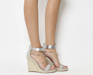 Office Hailey Strappy Espadrille Wedges