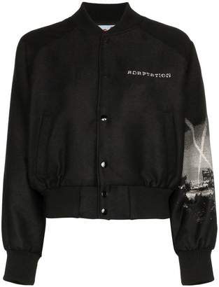 Adaptation LA print wool blend bomber jacket