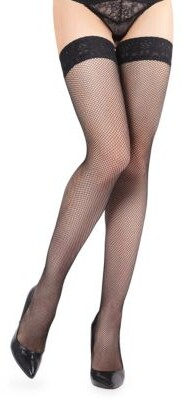 edcdd7c6f Me Moi Lace-Trimmed Fishnet Stockings