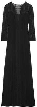 Elizabeth and James - Mia Embroidered Silk-georgette Maxi Dress - Black $595 thestylecure.com