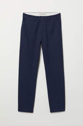 H&M Regular Fit Cotton Chinos - Blue