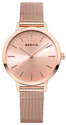 HBC BERING Analog Rose Classic Stainless Steel Bracelet Watch