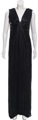 Lanvin Satin Maxi Dress