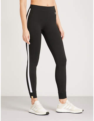 Monreal London Athlete striped-panel stretch-jersey leggings