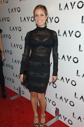Pleasure Doing Business Lace Dress in Black