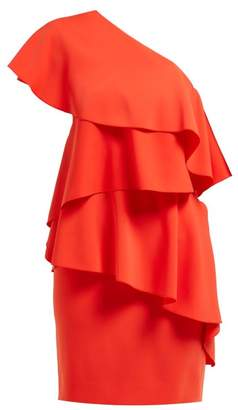 Lanvin One Shoulder Ruffled Dress - Womens - Red
