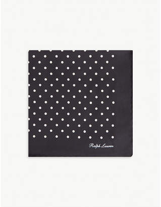 Ralph Lauren Purple Label Polka-dot silk pocket square
