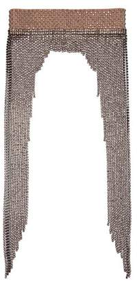 Gucci Crystal Embellished Tassel Headband - Womens - Silver