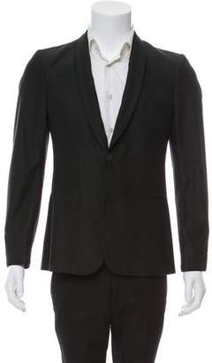 Burberry Silk & Wool Shawl-Lapel Blazer