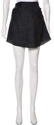 Hache Tweed Mini Skirt