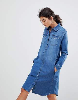 28001131ca Western Denim Dress - ShopStyle