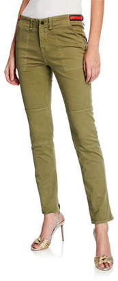 Veronica Beard Adrina Ankle Skinny Jeans w/ Waist Tabs