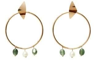 Violeta BY MANGO Stone hoop earrings