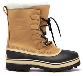Sorel Caribou Suede Ski Boots - Mens - Beige