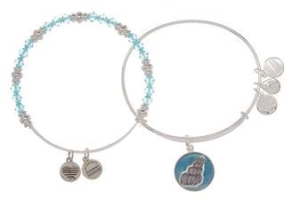 Alex and Ani Art Infusion Conch Shell Beaded Expandable Wire Bracelet Set