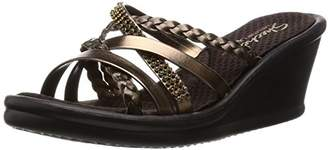 Skechers Cali Women's Rumblers Wild Child-Social Butterfly Wedge Sandal