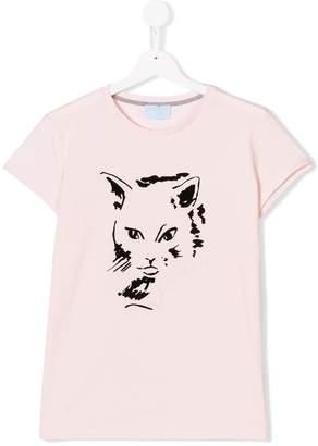 Lanvin Enfant TEEN flock cat T-shirt
