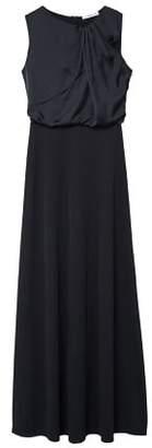 MANGO Satin panel dress