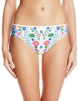 Kenneth Cole Reaction Women's Garden Groove Print Cinched Bikini Bottom