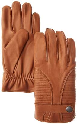 Marron Rugged Cool Rupert Leather Gloves