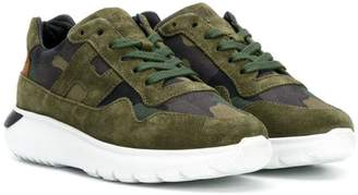 Hogan camouflage lace-up sneakers