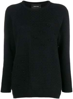 Simone Rocha patchwork knit sweater