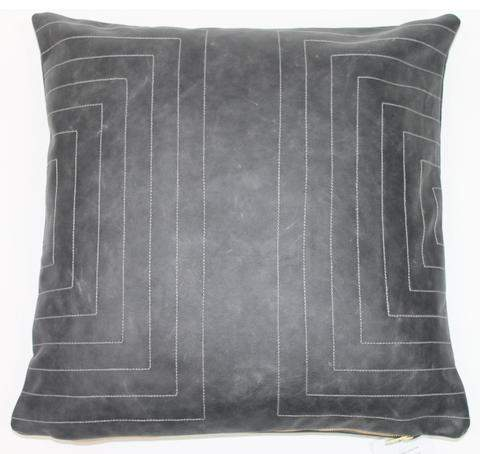 Streams Leather Pillow