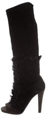 Thakoon Shearling-Trimmed Knee-High Boots