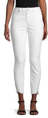 High-Rise Slim-Fit Corduroy Pants