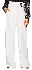 Derek Lam Women's High-Waist Crepe Wide-Leg Trousers - White