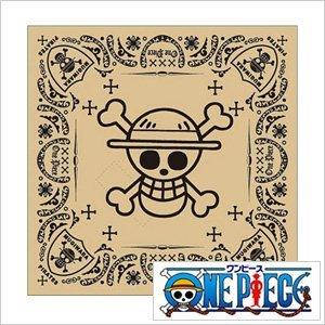 One Piece (ワンピース) - バロックワークス×ワンピースバンダナ[Baroque Works×ONE PIECEグッズ]( Baroque Works × ONE PIECE バンダナ バロックワークス × ワンピース ハンカチ )クールビットバンダナ ルフィ ベージュ/メンズ/レディース/男女兼用CB-LF2