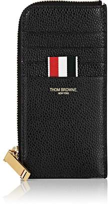 Thom Browne Men's Leather Half-Zip Card Case